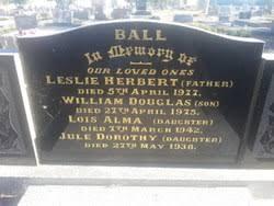 Lois Alma Ball (Unknown-1942) - Find A Grave Memorial