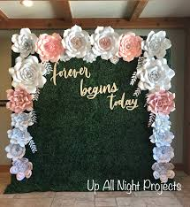 White Paper Flower Backdrop Paper Flower Backdrop Or Wall Decor Giant Paper Flowers Etsy