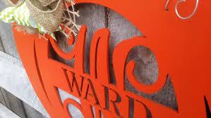 Pumpkin Door Hanger - Initial Wreath - Monogram Fall Wreath - Wall ...