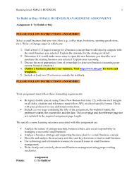 solution to build or buy small business management assignment  to build or buy small business management assignment assignment 1 to build or buy select a small b