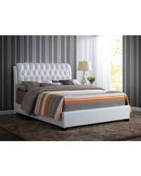 white faux leather bed. Brilliant Leather ACME Furniture Ireland Queen Faux Leather Bed With Tufted Headboard White With P