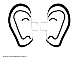 Small Picture Pair Of Ears Coloring Page Coloring Home