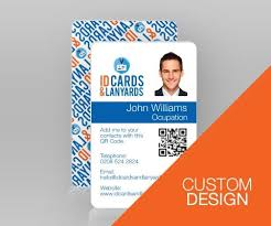 Business Id Template Double Sided Portrait Id Card Custom Design Id Card