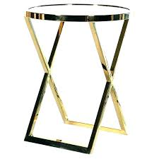 gold metal side table round glass end tables large size of set gold metal side table