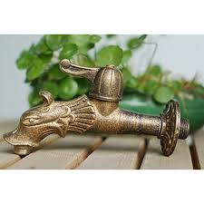 garden faucet. dragon animal shape garden bibcock rural style antique bronze tap with decorative outdoor faucet for h