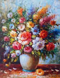 oil painting painting image art artwork flowers