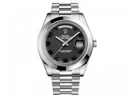 rolex day date ii president black dial platinum 41mm 218206bkcap rolex 218206bkcap