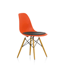 ... Fancy Home Interior Design With Eames Chair Cushions Decoration Ideas :  Exquisite Orange Chair With Grey ...
