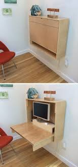If you're feeling ambitious you can also make your own custom fold up wall  desk to make sure it fits all of your needs.