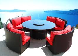 round wicker dining table coastal collection round outdoor wicker dining sofa set patio furniture 2 chaise round wicker dining table