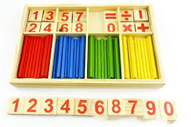 Wooden Math Games 100 Montessori Wooden Number Math Game Sticks Box Maths 49