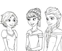 Small Picture Anna Rapunzel Princess Queen Elsa Cousin Coloring Pages Colorine