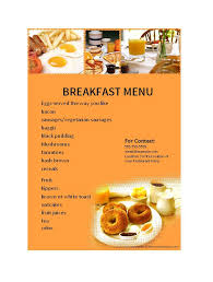 Breakfast Menu Template Simple 48 Restaurant Menu Templates Designs Template Lab