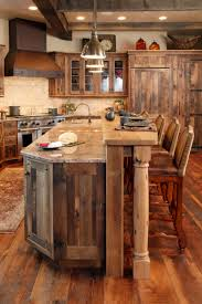 Country Rustic Kitchen Designs Cuisine Avec Palettes Cabinets Cabin And Bar