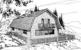 William A Radford  1908 House Plans  Dutch Colonial Revival Gambrel Roof House Floor Plans