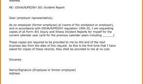 Sample Of Incident Report Letter Sample Of Incident Report Letter ...