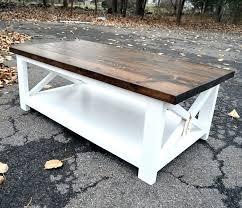 farmhouse x coffee table farmhouse x coffee table diy chunky farmhouse coffee table