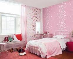 Polka Dot Mosaic Pink Bedroom