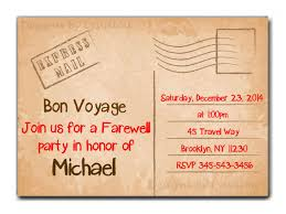 Download Our Sample Of Travel Farewell Party Invitation Bon Voyage