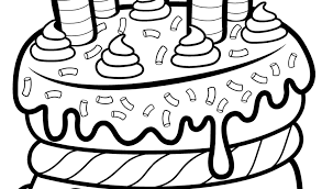 Shopkins Birthday Cake Coloring Pages Download