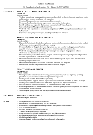 Quality Assurance Officer Resume Samples Velvet Jobs