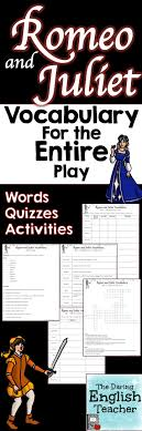 best ideas about romeo and juliet literature romeo and juliet vocabulary words activities and quizzes bundle