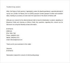 Parent Consent Letter For Travel Template Collection Sample Of