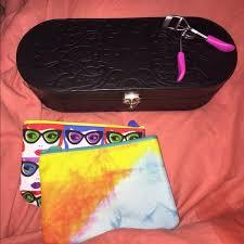 younique makeup trunk two bags eyelash curler