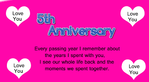 5th wedding anniversary wishes for