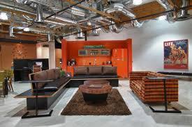 interior marvelous living room design black sofa set office