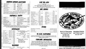 Seafood Express and More Menu, Menu for ...