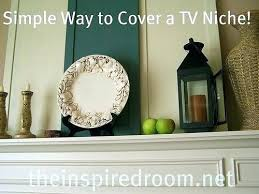 tv niche above fireplace recessed wall niche for before after mantel covering the niche above the