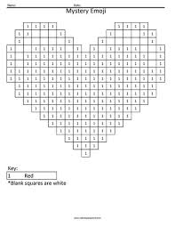 Coloring pages of an emoji are available on the internet. Heart Emoji Color By Number Coloring Squared