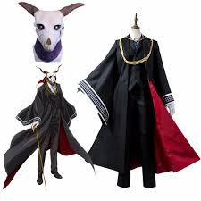 cosplaydiy anime the ancient magus bride cosplay costumes elias costumes with mask mahouti no yome costume mask cute costumes school girl