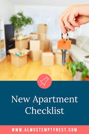 New Apartment Checklist - Almost Empty Nest