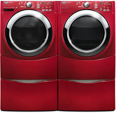 colored washer and dryer.  Washer Maytag Performance Series MHWE400WW  White  Washer And Dryer Side By Red Inside Colored And