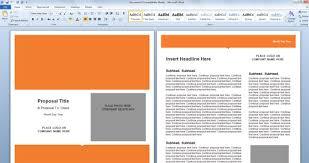 Proposal Templates Free Microsoft Word Gorgeous Microsoft Word Cover Page Templates Hcsclubtk