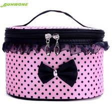 auhwone charming nice portable travel toiletry makeup cosmetic bag organizer holder handbag d7 where