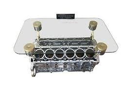 v12 engine block coffee table top