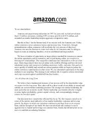 amazon cover letter amazon shareholder letters 1997 2011