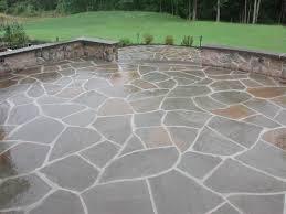 flagstone patio border