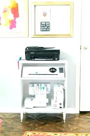 rolling printer cart under desk stand ikea hack