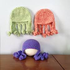 Crochet Octopus Hat Pattern Delectable Newborn Octopus Hat Baby Beanie From MariwetherKNCRs B A B