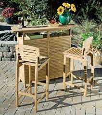 wood patio bar set. Bali Style Shorea Wood Bar And Stools Patio Set O