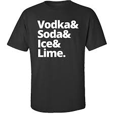 office adas features lime. Vodka Soda Ice Lime - Adult Shirt S Black Office Adas Features