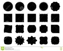 Black Vector Shapes Stock Vector Illustration Of Illustration
