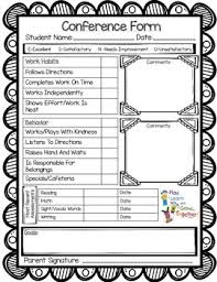 Free! Parent/teacher Conference Form-Keep All Your Talking Points ...