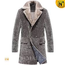 men shearling pea coat cw807065 cwmalls com