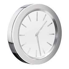 small bathroom clock:  awesome smedbo self adhesive bathroom mirror wall clock amp reviews wayfair also bathroom clock