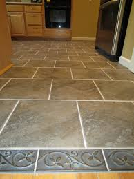 Rectangular Kitchen Tiles Brown Square Tile Plus Rectangle Gray Tile With Golden Leaves